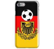 Germany flag with soccer ball iPhone Case/Skin