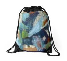 Blue City Drawstring Bag