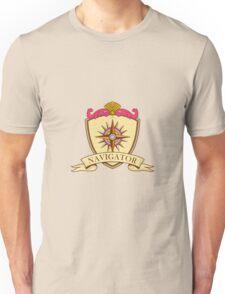 Compass Navigator Coat of Arms Crest Retro Unisex T-Shirt