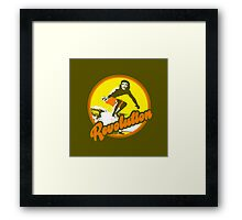 Surfer Che Revolution Framed Print