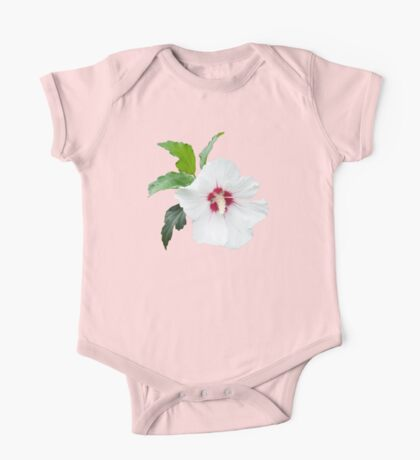 White flower blossom isolated One Piece - Short Sleeve