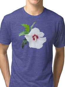 White flower blossom isolated Tri-blend T-Shirt