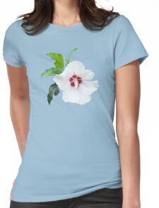 White flower blossom isolated Womens Fitted T-Shirt