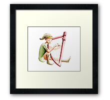 The pixie and the harp Framed Print