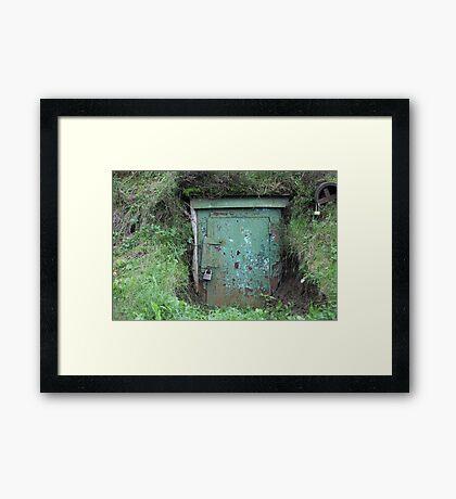 door of the dungeon Framed Print