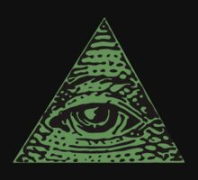 Illuminati green Kids Tee