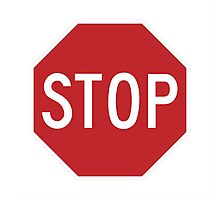 Traffic stop sign Photographic Print