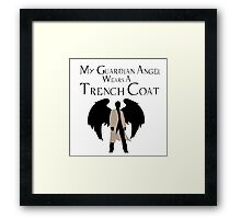 Guardian Angel (Black) Framed Print