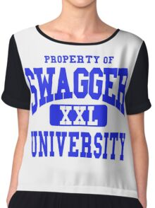 Swagger University Chiffon Top