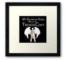Guardian Angel (White) Framed Print