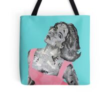 Elizabeth Taylor Newspaper Portrait Tote Bag