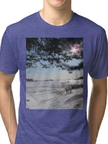 nice winter day on the island Tri-blend T-Shirt