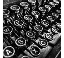 Old vintage typewriter Photographic Print