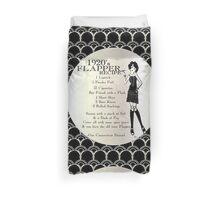 Flapper Girl 1920s Recipe Duvet Cover