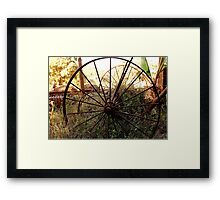 #SERIES WEGRAAKBOSCH -OLD FORGOTTON FARM IMPLEMENTS - Limpopo Province, South Africa Framed Print