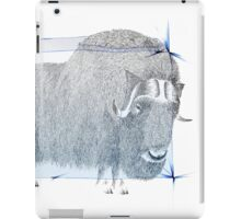 Muskox Ice Age illustration iPad Case/Skin