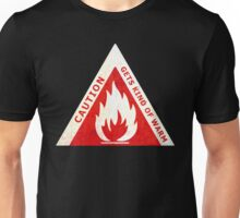 CAUTION - GETS KIND OF WARM Unisex T-Shirt