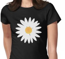 Daisy black pattern Womens Fitted T-Shirt