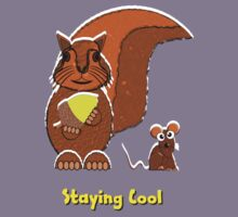 Staying Cool Squirrel and Mouse T-shirt, etc. design Kids Tee