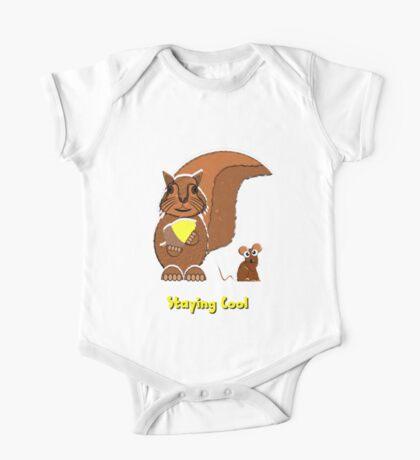 Staying Cool Squirrel and Mouse T-shirt, etc. design One Piece - Short Sleeve