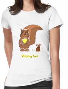 Staying Cool Squirrel and Mouse T-shirt, etc. design Womens Fitted T-Shirt