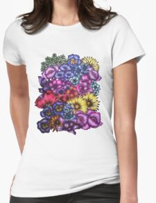 A Field of Flowers Womens Fitted T-Shirt