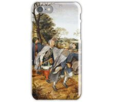 The Parable of the Blind (1568) Pieter Bruegel the Elder iPhone Case/Skin