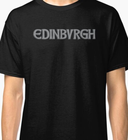 EDINBURGH (Edinbvrgh) Scotland in stone grey Classic T-Shirt