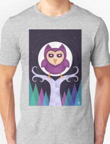 Mildly Perturbed Violet Owl T-Shirt