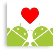 Love for Android Canvas Print