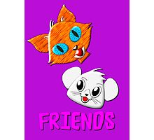 Pussy Cat and Mouse FRIENDS hardcover journal, etc. design Photographic Print