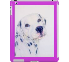 Cute dalmation dog portrait iPad Case/Skin