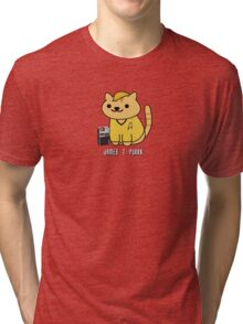 James T Purrk (Neko Atsume) Tri-blend T-Shirt