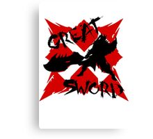 MHG Great Sword (CROSS SERIES) // Black Canvas Print