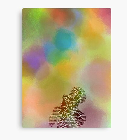 Ian Curtis psychedelic  Canvas Print