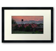 Sunset Over Pai Framed Print