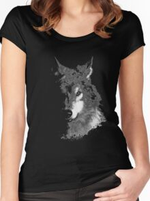 WolfInBlack Women's Fitted Scoop T-Shirt