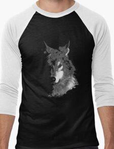 WolfInBlack Men's Baseball ¾ T-Shirt