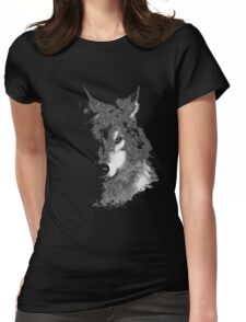 WolfInBlack Womens Fitted T-Shirt
