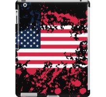 United States Flag Ink Splatter iPad Case/Skin