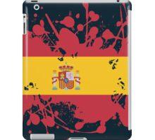 Spain Flag Ink Splatter iPad Case/Skin
