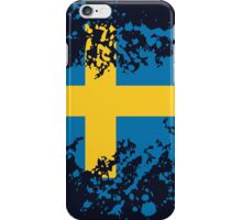 Sweden Flag Ink Splatter iPhone Case/Skin