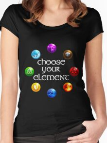 Magicka, choose your element (circle) Women's Fitted Scoop T-Shirt