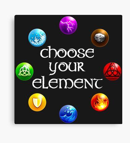 Magicka, choose your element (circle) Canvas Print