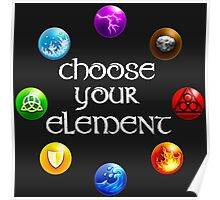 Magicka, choose your element (circle) Poster