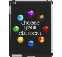Magicka, choose your element (circle) iPad Case/Skin