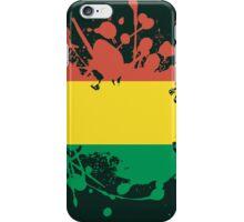 Bolivia Flag Ink Splatter iPhone Case/Skin