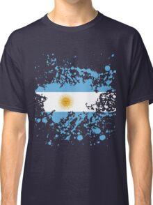 Argentina Flag Ink Splatter Classic T-Shirt