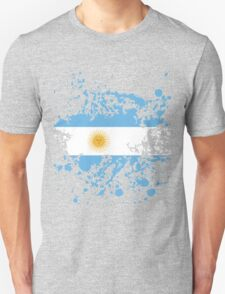 Argentina Flag Ink Splatter Unisex T-Shirt