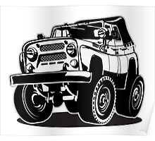 Cartoon jeep Poster